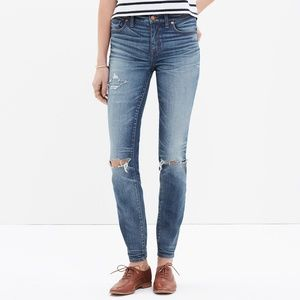 Madewell Jeans High Rise Skinny Distressed